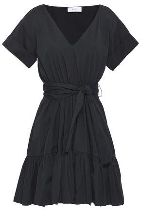 A.L.C. Alaina gathered cotton-poplin mini dress