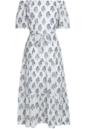 A.L.C. Doris off-the-shoulder floral-print cotton-voile midi dress