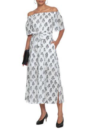 A.L.C. Doris off-the-shoulder floral-print cotton-voile midi dress