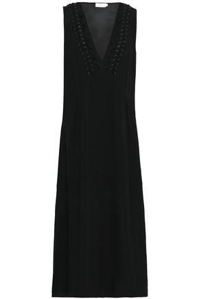 A.L.C. Araya lace-trimmed silk-blend crepe midi dress