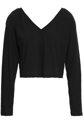 A.L.C. Bastille cropped slub cotton-jersey top