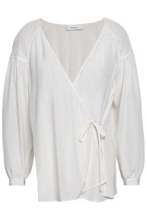 A.L.C. Samira silk crepe de chine wrap top
