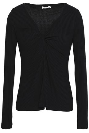 A.L.C. Madre twist-front ribbed stretch-jersey top