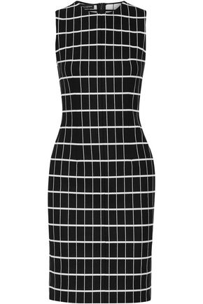 NARCISO RODRIGUEZ Checked jacquard-knit cotton-blend dress