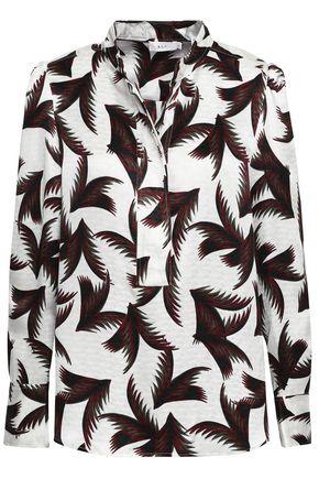 A.L.C. Gosford printed silk-jacquard shirt