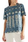 ADAM LIPPES Metallic tie-dyed denim top