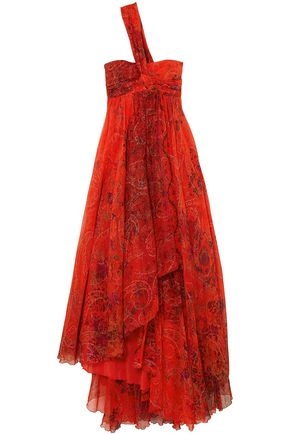 ETRO Printed silk-georgette gown