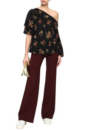 A.L.C. Marissa one-shoulder floral-print silk-crepe top