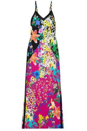 エミリオ プッチ フローラルプリント ストレッチクレープ マキシスリップドレス