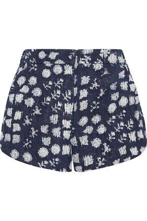 A.L.C. Hamill floral-print metallic silk-blend shorts