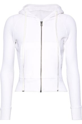 Enza Costa Woman Waffle-Knit Cotton And Cashmere-Blend Hoodie White 405cdb32f
