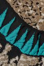 ROBERTO CAVALLI Open knit-paneled jacquard-knit maxi dress