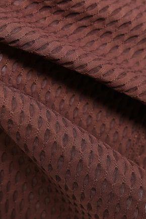 KORAL Crescent cropped mesh top