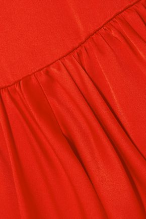 STELLA McCARTNEY Tiered satin-crepe mini dress