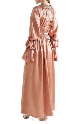 ROKSANDA Zoya ruched silk-satin maxi dress