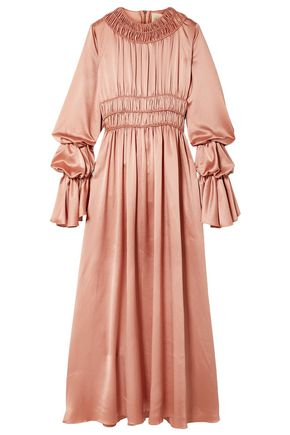 ROKSANDA Zoya ruched silk-satin maxi dress