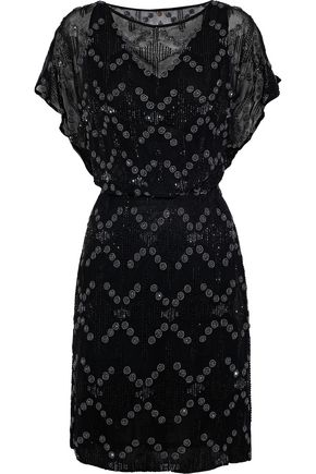 ANTIK BATIK Balty embellished chiffon dress
