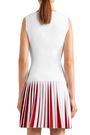 ALAÏA Pleated two-tone knitted mini dress