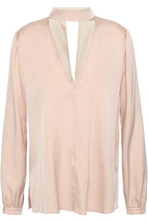 A.L.C. Liza cutout stretch-silk blouse