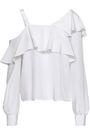 A.L.C. Eliza cutout ruffled silk blouse