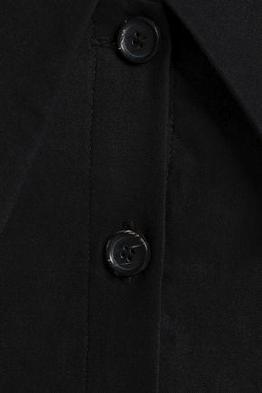 A.L.C. Graham cold-shoulder linen-blend mini dress