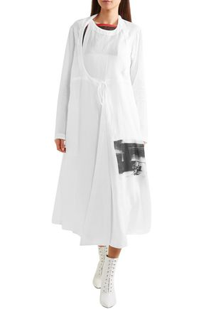 CALVIN KLEIN 205W39NYC + Andy Warhol Foundation layered printed voile midi wrap dress
