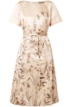 BOTTEGA VENETA Printed satin dress