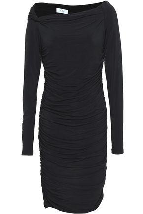 A.L.C. Etta off-the-shoulder ruched stretch-jersey dress