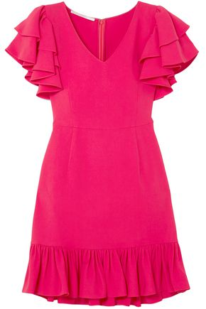 STELLA McCARTNEY Ruffle-trimmed stretch-crepe mini dress