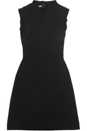 MIU MIU Bow-embellished ruffle-trimmed mini dress