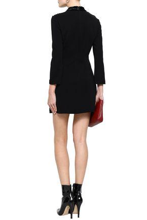 A.L.C. Alix lace-paneled stretch-crepe mini dress