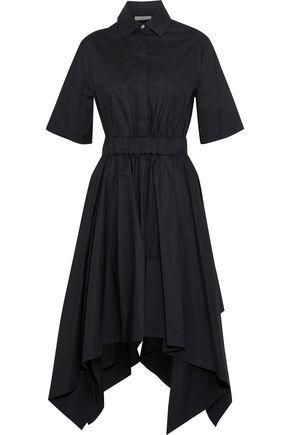PETERSYN Cali asymmetric cotton-poplin shirt dress