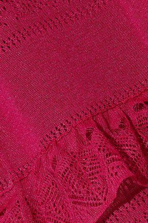 CAROLINA HERRERA Tiered pointelle-knit midi dress