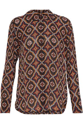 A.L.C. Aubrey printed silk-crepe shirt