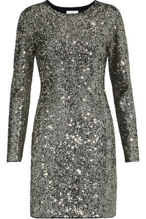A.L.C. Aliya sequined knitted mini dress