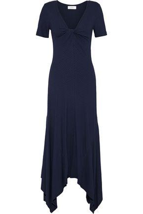 A.L.C. Reva twist-front ribbed stretch-jersey midi dress