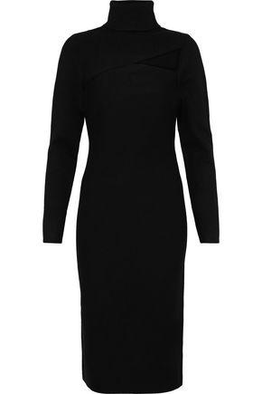 A.L.C. Montero cutout stretch-knit turtleneck dress