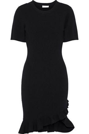 A.L.C. Tulum ruffle-trimmed ribbed-knit mini dress