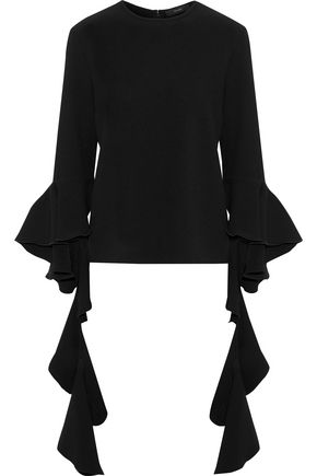 ELLERY Emmeline ruffled cotton-poplin top