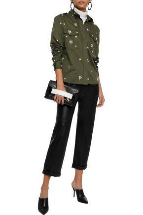 JOIE Hayfa embellished cotton-twill shirt