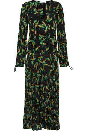 A.L.C. Brooks printed silk midi dress