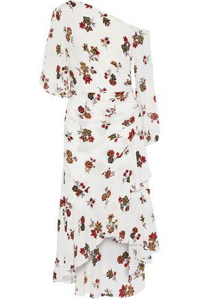 A.L.C. Florence asymmetric floral-print silk-crepe midi dress