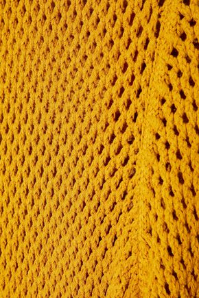 A.L.C. Open-knit midi turtleneck dress