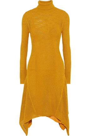 A.L.C. Open-knit midi turtleneck dress