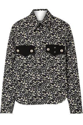 CALVIN KLEIN 205W39NYC Floral-print cotton-twill shirt