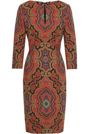 Etro Printed Stretch Wool Dress