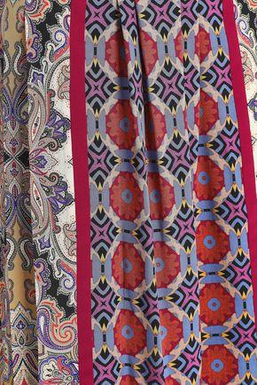 ETRO Printed silk crepe de chine midi dress