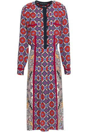 ETRO Printed silk crepe de chine midi dress