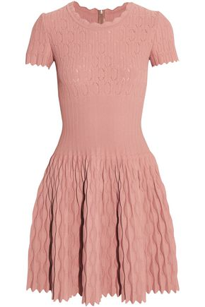 ALAÏA Pointelle-knit mini dress