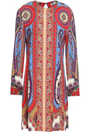 ETRO Printed crepe mini dress